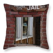 Virginia City Nevada Jail Throw Pillow