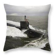 Virginia-class Attack Submarine Throw Pillow by Stocktrek Images