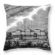 Virginia: College, 1856 Throw Pillow