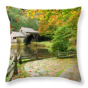 Virginia Fall Throw Pillow
