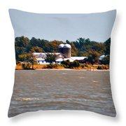 Virginia Farm Throw Pillow by Bill Cannon