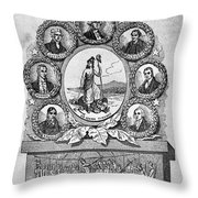 Virginia: Motto Throw Pillow