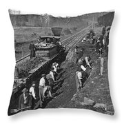 Virginia: Railroad, C1861 Throw Pillow