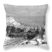 Virginia: Salt Mine, 1857 Throw Pillow