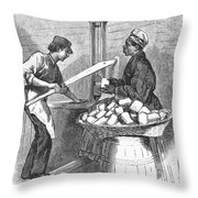 Virginia: Tobacco, 1879 Throw Pillow