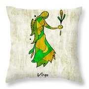 Virgo Artwork Throw Pillow