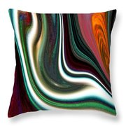 Visceral Throw Pillow by Ginny Schmidt