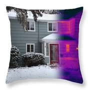 Visible And Infrared Image Of A House Throw Pillow