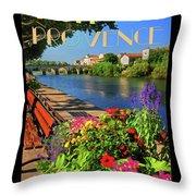 Visit Provence Poster Throw Pillow