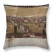 Visscher: London, 1650 Throw Pillow
