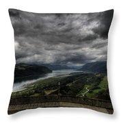Vista House View Throw Pillow