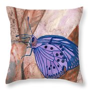 Visualization Butterfly Throw Pillow