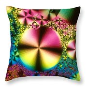 Vitamin B1 Crystal Throw Pillow