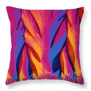 Vitamin E Crystals Throw Pillow