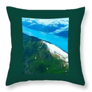 Vivid Waters Throw Pillow