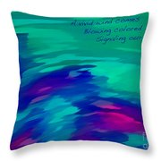 Vivid Wind Haiku Throw Pillow