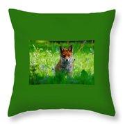 Vixen In Bluebells Throw Pillow