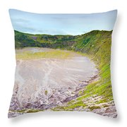 Volcano Crater Throw Pillow