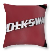 Volkswagen On Red Throw Pillow