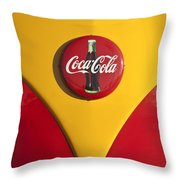 Volkswagen Vw Bus Coco Cola Emblem Throw Pillow