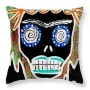 Voodoo Queen Sugar Skull Angel Throw Pillow