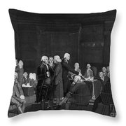 Voting Independence, 1776 Throw Pillow
