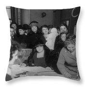 Voting Poll, 1922 Throw Pillow