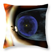 Voyager 2 Spacecraft Studies The Outer Throw Pillow