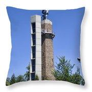 Vulcan Park Statue In Birmingham Throw Pillow