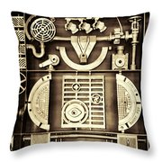 Vulcan Steel Steampunk Throw Pillow