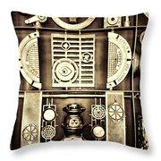 Vulcan Steel  Steampunk Metalworks Throw Pillow
