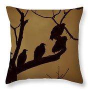 Vulture Island Throw Pillow