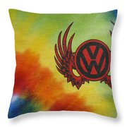 Vw Club Logo Throw Pillow