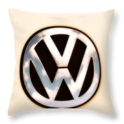 Vw Emblem Throw Pillow