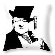 W. C. Fields Throw Pillow