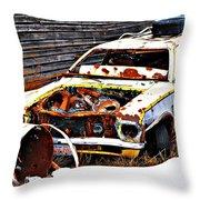 Wagon Of Rust Throw Pillow