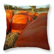 Wagon Ride For Pumpkins Throw Pillow