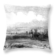 Wagon Train, 1859. For Licensing Requests Visit Granger.com Throw Pillow