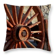 Wagon Wheel Throw Pillow