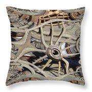 Wagon Wheel Fractal Throw Pillow