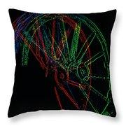 Wagon Wheels In Wheels Throw Pillow