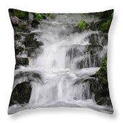 Wahkeena Falls Two Throw Pillow