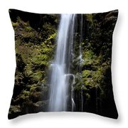 Waikani Waterfall Throw Pillow
