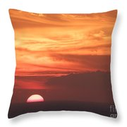 Waikiki Sunset No 4 Throw Pillow
