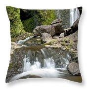 Wailua Falls And Rocks Throw Pillow