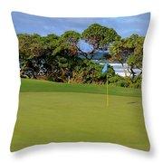 Wailua Golf Course - Hole 17 - 3 Throw Pillow