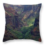Waimea Canyon 2 Throw Pillow