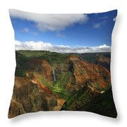 Waimea Canyon Landscape Throw Pillow