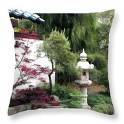Waiting At The Entry Wall Throw Pillow
