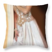 Waiting By The Door Throw Pillow by Jill Battaglia